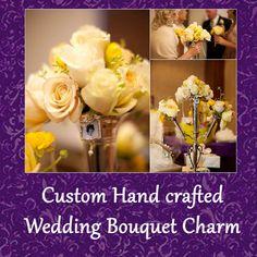 Wedding Photo Charm Bouquet Accessory Soldered by DesignedToCharm2, $19.00