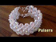 # DIY - Pulsera con perlas grises y muy facil # DIY - Bracelet with gray pearls - YouTube