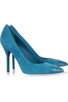 Yves Saint Laurent Opyum suede pointed pumps   NET-A-PORTER