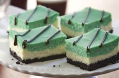 Green with Envy Cheesecake Bars from How to Bake for St. Patrick's Day with 5 Easy Recipes Slideshow