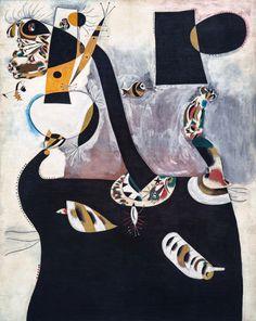 "1938 - ""Seated Woman II"" by Joan Miró (Catalan, Barcelona, 1893 - Palma de Majorca, 1983)"