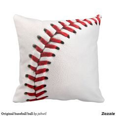 Original baseball ball throw pillows