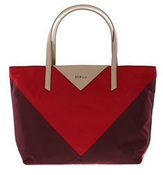 Furla Calypso Shoulder Handbag Tote Purse in Granata+Ruby