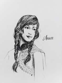 Unfinished Anna (Frozen, Disney) - fanart based from OUAT  by @mervyvalencia  #draw #illustration #ink #paint #creative #sketch #gallery #graphic #drawing #freehand
