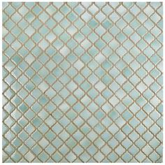 Merola Tile Hudson Tangier Mint Green in. x 5 mm Porcelain Mosaic - The Home Depot Mosaic Wall, Mosaic Tiles, Wall Tiles, Turquoise Tile, Online Tile Store, Lantern Designs, Best Floor Tiles, Tile Saw, Stone Tiles
