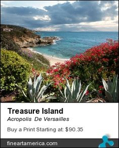 A beautiful view of Treasure Island overlooking Pirates Eye Cliff. This breathtaking Ocean Fine Art Print compliments any Interior Decor. // Photography by Alex Acropolis Calderon. Buy stunning fine art prints, framed prints and canvas prints from Versailles Exquisites Photography.