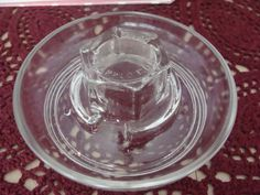 glass watering dish for use with a mason jar