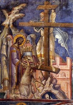 Ascending the Cross - Vatopedia Monastery, Mt. Athos, Early 14th century
