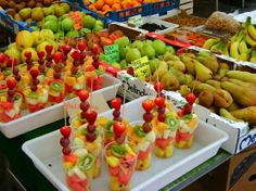 Fruit kabobs .. Idea for party