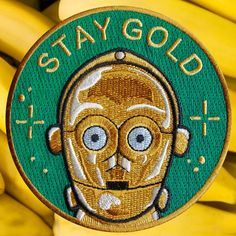 "C3PO iron-on patch <br></br><font color=""#BDBDBD"">parche de C3PO</font> / la barbuda"