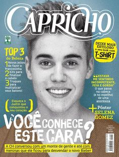 Justin Bieber On Capricho Magazine Cover 'Unveil The New Bieber'
