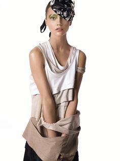 Vogue Jan. 2007 - Fashion by Steven Meisel, Model: Sasha Pivovarova