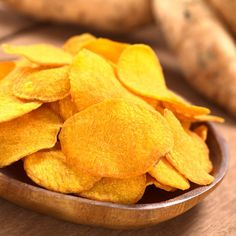 Recipe: Skinny Baked Sweet Potato Chips