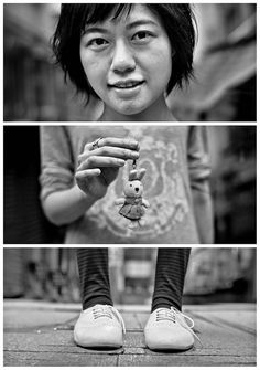 Triptychs of Strangers #27, The warm-hearted Giver - Hong Kong by theblackstar…