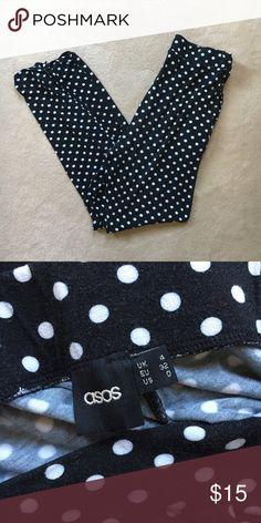 Asos polka dot peg pants Super soft and fun, rarely worn ASOS Pants Ankle & Cropped
