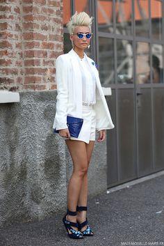Esther Quek at Milan Fashion Week day 4