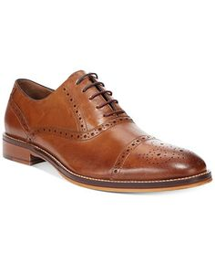 Johnston & Murphy Conard Cap-Toe Oxfords - Dress Shoes - Men - Macy's