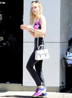 the gym look - Elle Fanning