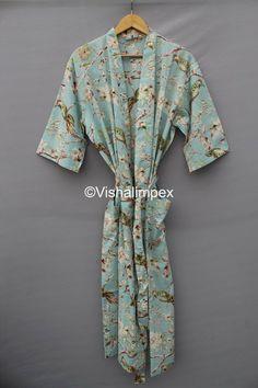Summer Kimono, Long Kimono, Cotton Kaftan, Maxi Gowns, Bridesmaid Robes, Summer Dresses For Women, Vintage Cotton, Printed Cotton, Beautiful Outfits