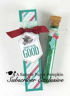 Sneak Peek at one of the September 2016 Paper Pumpkin Something Good to Eat alternate projects included in my exclusive file for my Paper Pumpkin subscribers. A bath salt gift in a box, great for a stocking stuffer. www.barbstamps.com