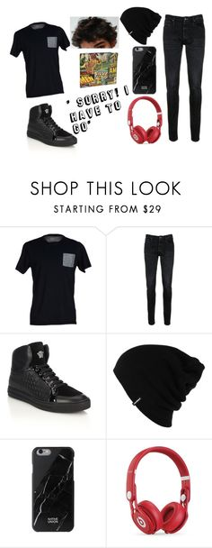 """""""Nicks outfit"""" by maydoll on Polyvore featuring SELECTED, Denham, Versace, Patagonia, Native Union, Beats by Dr. Dre, Marvel, men's fashion and menswear"""