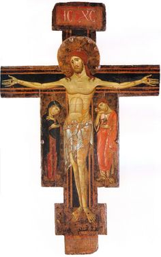 Berlinghiero Berlinghieri - Crocifisso di Fucecchio - c. 1230-1235 - Tempera su tavola -  Museo San Matteo, Pisa