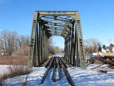 Located in High River Alberta, almost downtown in fact, the old CPR railway bridge across the Highwood River has not seen a train in years. ...