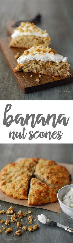 Scones meet banana bread in these low sugar Banana Nut Scones. This easy scone recipe is perfect for breakfast when paired with a cup of coffee!