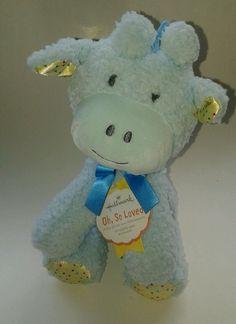 "Hallmark ""oh, So loved"" blue Giraffe stuffed Plush animal #Hallmark"