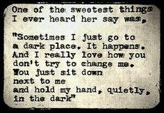 Pain is dark sometimes