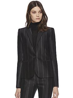 Gucci Pinstripe Silk, available at Saks Fifth Avenue