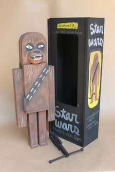ADORABLE WOODEN STAR WARS ACTION FIGURES: Chewbacca