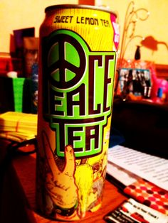 drinking this great organic and totally yummy swet lemon tea !! sugars=11g=passable by mom :)