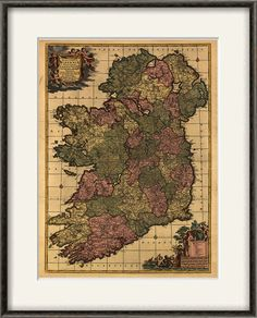 Ireland map print map vintage old maps Antique map poster map wall decor home decor wall map large map old prints Ireland decor 12x16 by VictorianWallDecor on Etsy https://www.etsy.com/listing/167960984/ireland-map-print-map-vintage-old-maps