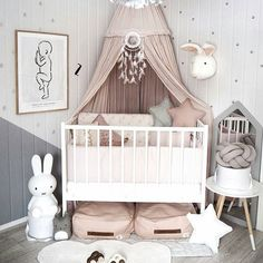 Baby # Schlafzimmer # Baby # Kinderzimmer # Babyzimmer # Pastell A Fitness Routine for Six Pak Abs T Baby Bedroom, Baby Room Decor, Nursery Room, Girls Bedroom, Nursery Decor, Nursery Ideas, Nursery Dresser, Girl Rooms, Bunny Nursery