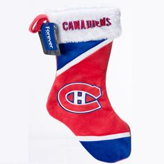 RetroFestive.ca - NHL Montreal Canadiens Christmas Stocking, $17.99 (http://www.retrofestive.ca/nhl-montreal-canadiens-christmas-stocking/)