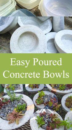Easy Poured Concrete Bowls