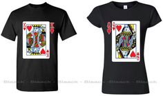 Couple Tee King & Queen Playing Cards Design by COUPLESAPPARELcom