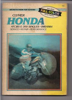 Honda atc 200 service manual honda atc service manuals pinterest honda atc185 and atc200 singles 1980 to 1984 clymer repair service manual fandeluxe Images