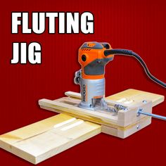 How to make a mini router jig for making flutes on wood.