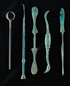 Surgical instruments. From Pompei - Rome, Museo Storico Nazionale Dell'Arte Sanitaria (Medical Art Museum)