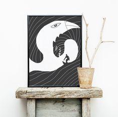 Wellenreiter Bookends, Fine Art Prints, Poster, Design, Home Decor, Picture Frame, Horseback Riding, Decoration Home, Room Decor