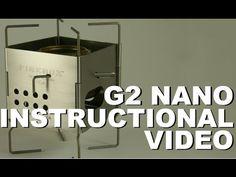 Ultralight Backpacking Stove Folding Firebox G2 Nano Instructional Video