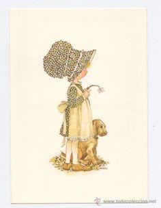 holly hobby   POSTAL *HOLLY HOBBIE* - CON EL PERRITO - 1977 (Postales - Dibujos y ...
