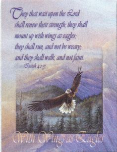 Note Card- With Wings as Eagles - (Isaiah 40:31) KJV - Larry K. Martin