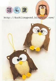 free hoot owl felt pattern