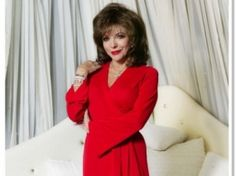 Joan Collins at home in London