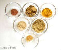 Homemade mild curry powder ingredients