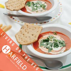 Living on the Veg  Get your #nutrition and #vitamin boost tonight by enjoying some fresh home-made soup and a crusty baguette. Use Harfield tableware soup/pasta bowls and S-Planks and bring this evening to life!   #recyclable #freshproduce #crustybread #soup #pasta #summerfun #vegetarian #vegan   Visit: www.harfieldtableware.co.uk