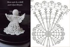 Lady With Crochet Male Aniolki Crochet Snowflake Pattern, Crochet Motifs, Christmas Crochet Patterns, Holiday Crochet, Crochet Snowflakes, Thread Crochet, Crochet Crafts, Crochet Doilies, Crochet Stitches